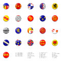France regions flags ball Royalty Free Stock Image