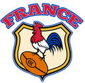 France rugby Rooster cockerel Royalty Free Stock Photos
