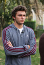 France's Gilles Simon attends a press conference Royalty Free Stock Images