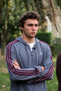 France's Gilles Simon attends a press conference Stock Photo