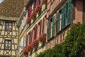 France, small village of Riquewihr in Alsace Stock Photography