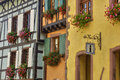 France, small village of Riquewihr in Alsace Royalty Free Stock Photos