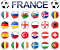 France soccer game national teams Royalty Free Stock Photo