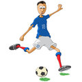 France soccer player illustration of who hits the ball Royalty Free Stock Photos
