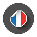 France sticker with flag.
