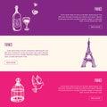 France Touristic Horizontal Vector