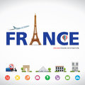 France travel dreams destination, France travel symbols, Symbols of France, landmark. Royalty Free Stock Photo