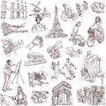 France traveling series central collection of an hand drawn illustrations description full sized hand drawn illustrations isolated Royalty Free Stock Images