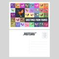 France Vector Postcard Design ...
