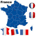 France vector set. Royalty Free Stock Photography