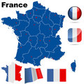 France vector set. Stock Photography