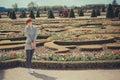 France versailles june women in beautiful garden Stock Image