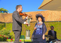 France violinist jérémie levi samson admirer here gives a goodwill concert at a friends wedding with his band the venue is the Royalty Free Stock Photo