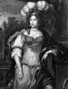 Frances stewart duchess of richmond on engraving from prominent member the court the restoration engraved by h t ryall and Stock Image