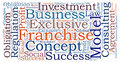 Franchise concept business word cloud Stock Photos