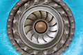 Francis turbine the impeller hydraulic especially of rotor Royalty Free Stock Photography