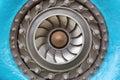 Francis turbine the impeller hydraulic especially of rotor Royalty Free Stock Photography