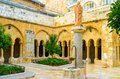 The Franciscan courtyard Royalty Free Stock Photo