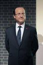 Francois hollande wax statue at madame tussauds in london Royalty Free Stock Photos