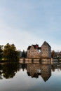 Franconian water castle brennhausen in the morning shot in november on a warm morning Stock Image