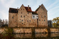 Franconian water castle brennhausen in the morning shot in november on a warm morning Royalty Free Stock Photography