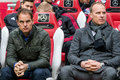 Frank de Boer and Dennis Bergkamp Royalty Free Stock Photo