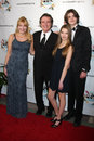 Frank Dicopoulos, wife Teja, son Jaden, daughter Olivia arrives at the 2011 FAAN Los Angeles Gala Stock Photo