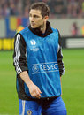 Frank lampard of chelsea london s football player before a europa league football game Stock Images