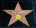 Frank Sinatra Star on the Hollywood Walk of Fame Royalty Free Stock Photo