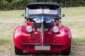 Franken, Germany, 21 June 2015:: American vintage car, close-up of Dodge front detail Royalty Free Stock Photo