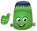 Frankenstein emoticon Royalty Free Stock Photo