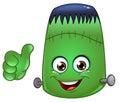 Frankenstein emoticon Royalty Free Stock Photo