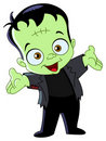 Frankenstein kid Royalty Free Stock Photo