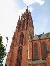 Frankfurt cathedral frankfurter dom in roemerberg am main germany Royalty Free Stock Image