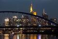Frankfurt city skyline at night Royalty Free Stock Photo