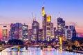 Frankfurt Germany Skyline Royalty Free Stock Photo