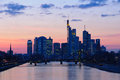 Frankfurt am Main, Germany in the twilight Stock Image