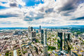 Frankfurt am Main skyline with dramatic clouds, Hessen, Germany Royalty Free Stock Photo