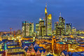 Frankfurt at night am main germany Royalty Free Stock Photos