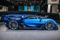 FRANKFURT - SEPT 2015: Bugatti Chiron Vision Gran Turismo presented at IAA International Motor Royalty Free Stock Photo