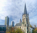 Frankfurt st antonius kirche cathedral Royalty Free Stock Image