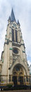 Frankfurt st antonius kirche panorama cathedral Royalty Free Stock Images