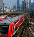 Frankfurt Train Terminal Royalty Free Stock Photography
