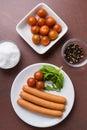 Frankfurter sausages Royalty Free Stock Photo