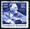 Franklin D. Roosevelt US Postage Stamp Royalty Free Stock Photo