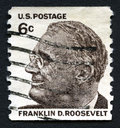 Franklin D Roosevelt US Postage Stamp Royalty Free Stock Photo