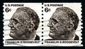 Franklin D Roosevelt USA Postage Stamp Royalty Free Stock Photo