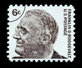 Franklin Delano Roosevelt Postage Stamp Royalty Free Stock Photo