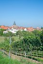 Frankweiler german wine route germany view to village of at rhineland palatinate Royalty Free Stock Images