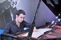 François xavier poizat zhuhai china may solo piano performances at mangrove bay community Stock Images